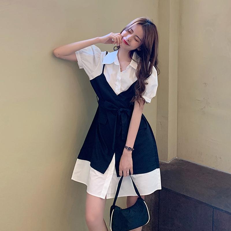 衣裙女夏季气质衬衫裙
