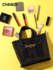 Mesh embroidery cosmetic bag female portable 2021 new large-capacity storage mesh wash bag handbag high sense