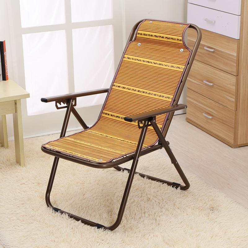 夏季躺椅折叠椅竹丝靠背椅子沙滩椅阳台午休椅家用藤椅户外休闲椅
