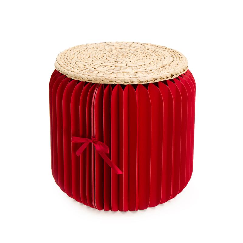 十八纸凳子圆凳时尚创意矮茶几凳家用小户型家具设计客厅折叠凳