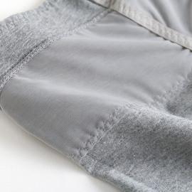 2条纯棉收腹提臀中高腰平角内裤女蕾丝无痕安全防走光女士大码裤