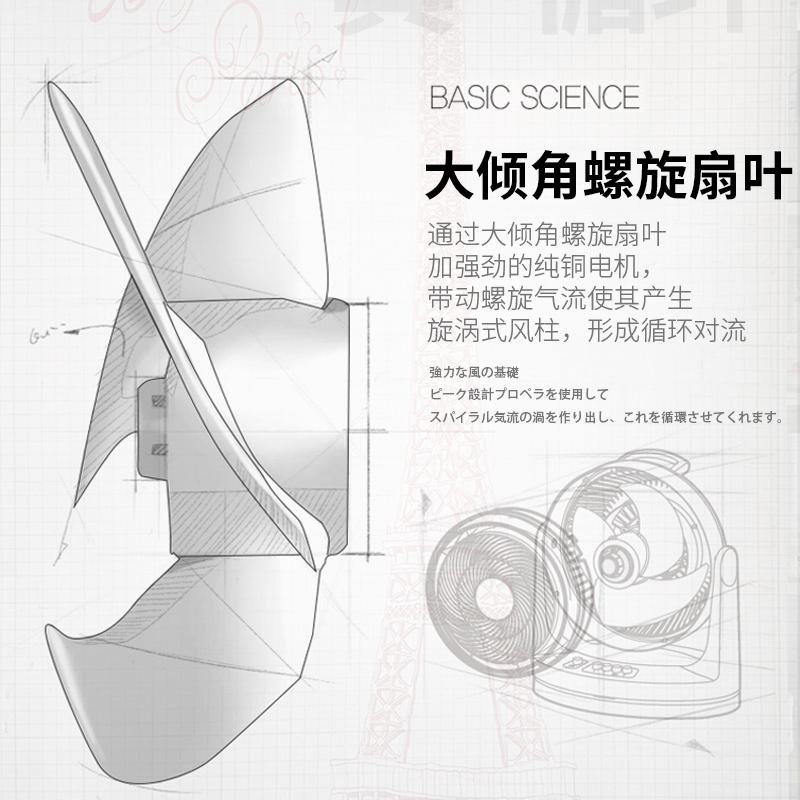 日本爱丽思IRIS小型空气循环扇静音节能家用对流台式电风扇爱丽丝
