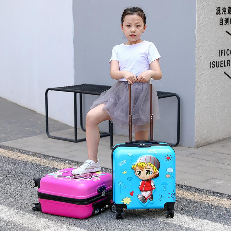 定制20寸儿童拉杆箱18寸登机箱男女旅行箱万向轮密码箱拖箱行李箱