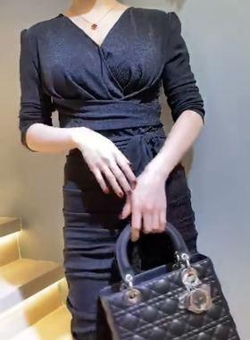 义乌俊英名店欧韩女装高端走秀款大牌女装欧洲站2020新款连衣裙