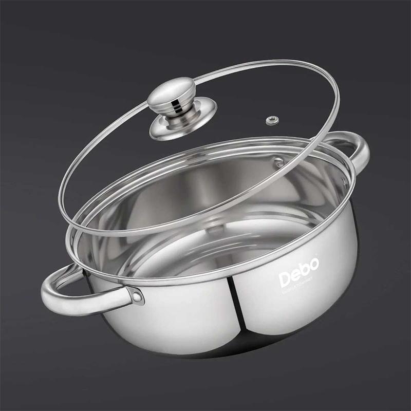 德国Debo德铂不锈钢锅汤锅家用燃气加厚煮锅炖锅小火锅电磁炉煲汤