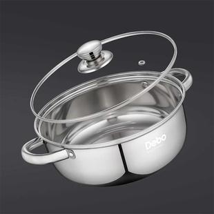 德国Debo德铂不锈钢加厚大容量汤锅
