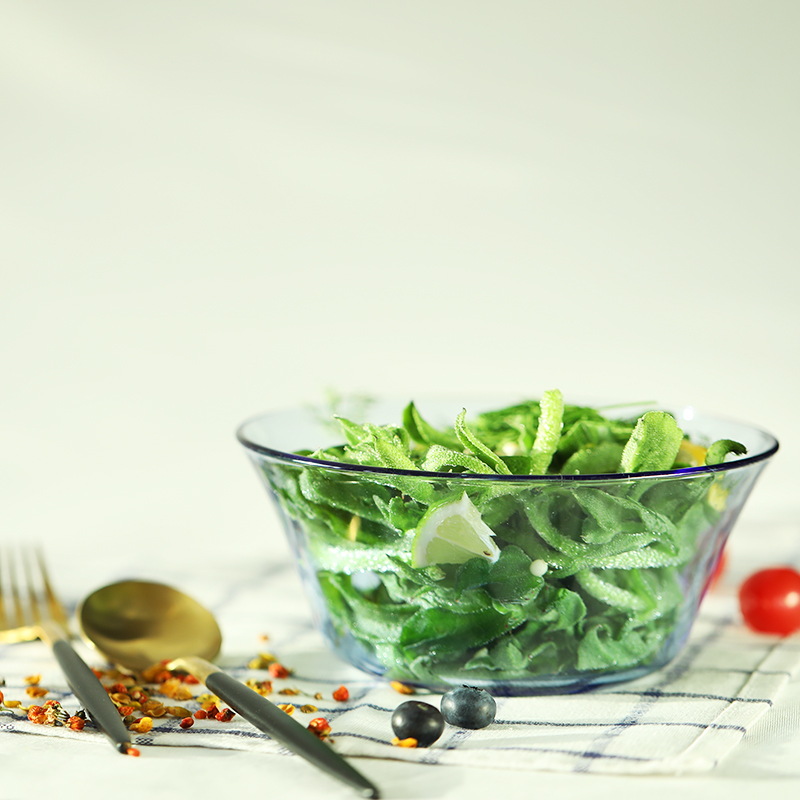 2只裝 法國進口DURALEX/多萊斯鋼化玻璃泡麵湯麵碗沙拉碗水果盆