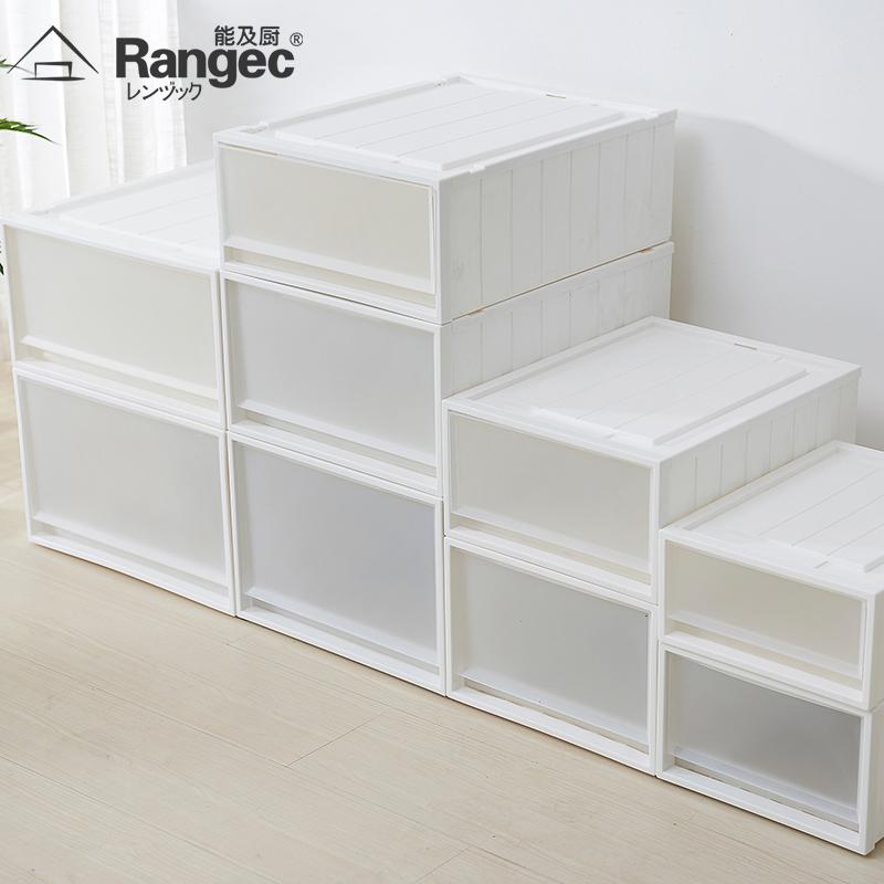 抽屜式收納箱透明塑料衣櫃收納盒衣物整理箱日式儲物箱內衣收納櫃
