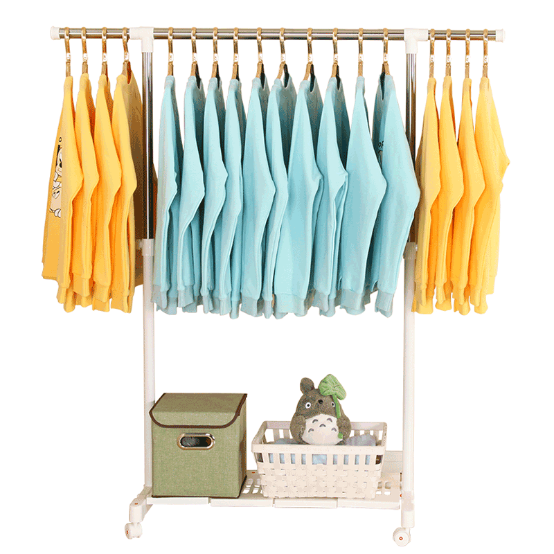 晾衣架落地卧室折叠阳台简易衣服架子凉衣架晒架室内单杆式挂衣架
