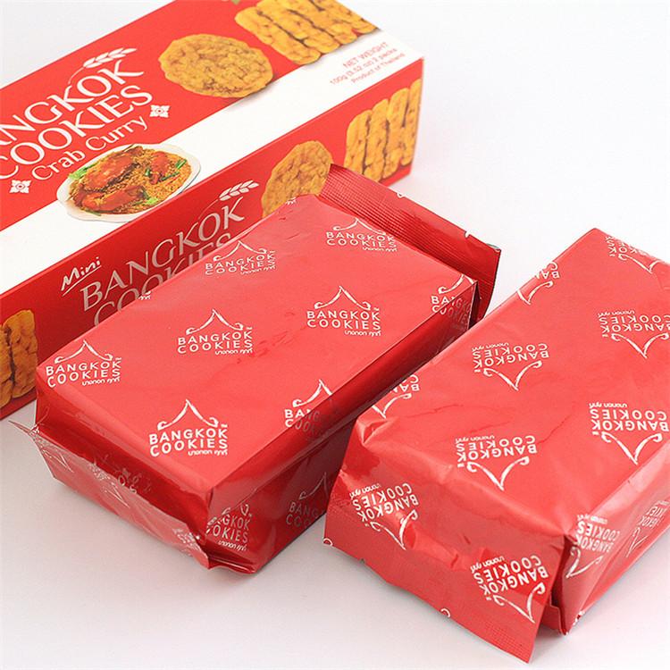 盒装包邮 3 咖喱蟹米饼香米干 COOKIES BANGKOK 免税店 KingPower 泰国