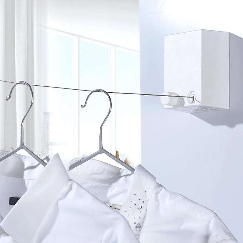 隐形伸缩晾衣绳室内免打孔晾衣架收缩凉衣绳阳台晾衣神器挂晒衣服