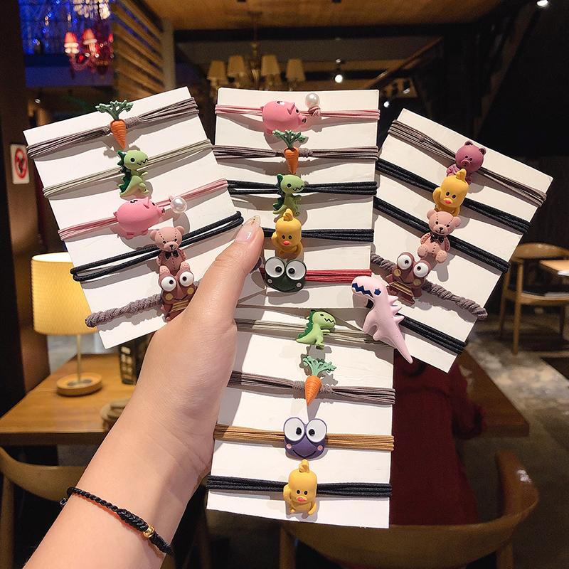 韩国网红可爱卡通小恐龙发圈女扎头发皮筋 森系头绳送给男朋友  ins