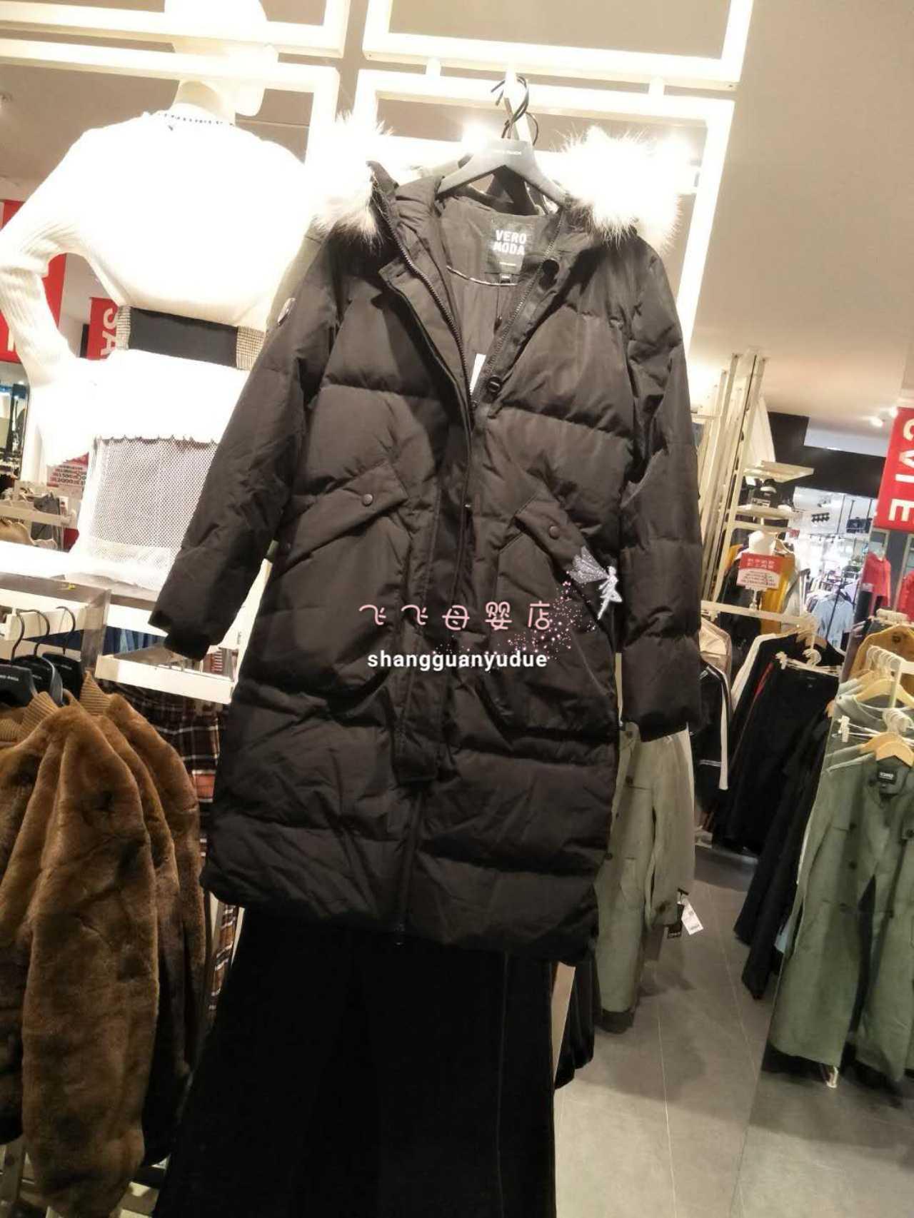 年冬季长款羽绒服女装  鸭鸭羽绒服女 317412519 黑色新款白鸭绒 2018