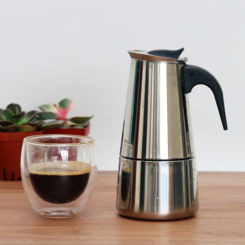 摩卡壺 家用意式濃縮煮咖啡壺 不鏽鋼義大利特濃香煮咖啡機器具