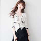 Cardigan coat female knitted spring and autumn short section small fragrance wind 2020 new sweater coat spring women's thin section