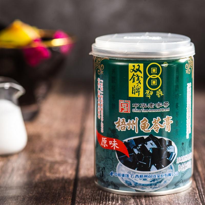 双钱龟苓膏原味易拉罐礼盒装250gX12罐装烧仙草即食布丁果冻零食
