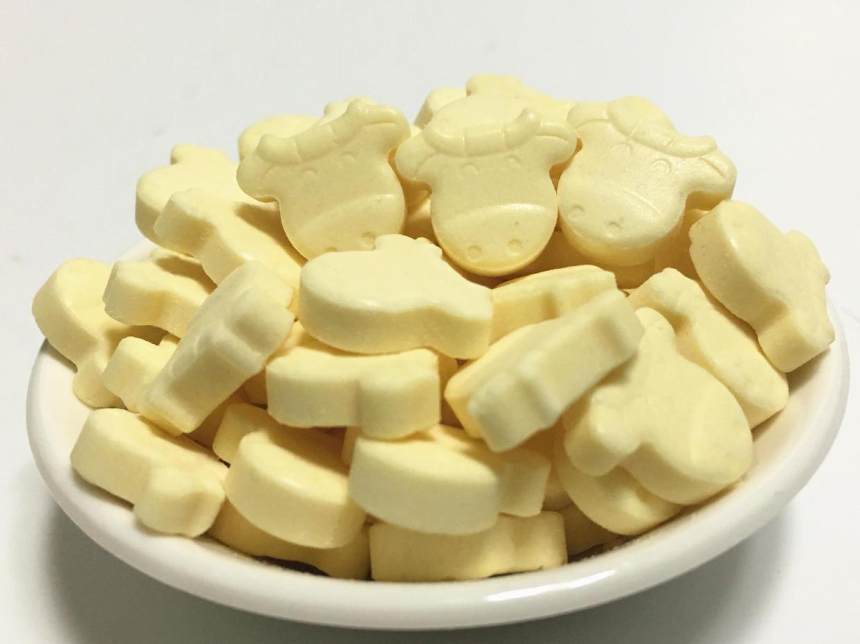 盒 板 10 河马莉牛奶片压片糖儿童奶贝奶酪营养零食奶糖干吃奶片