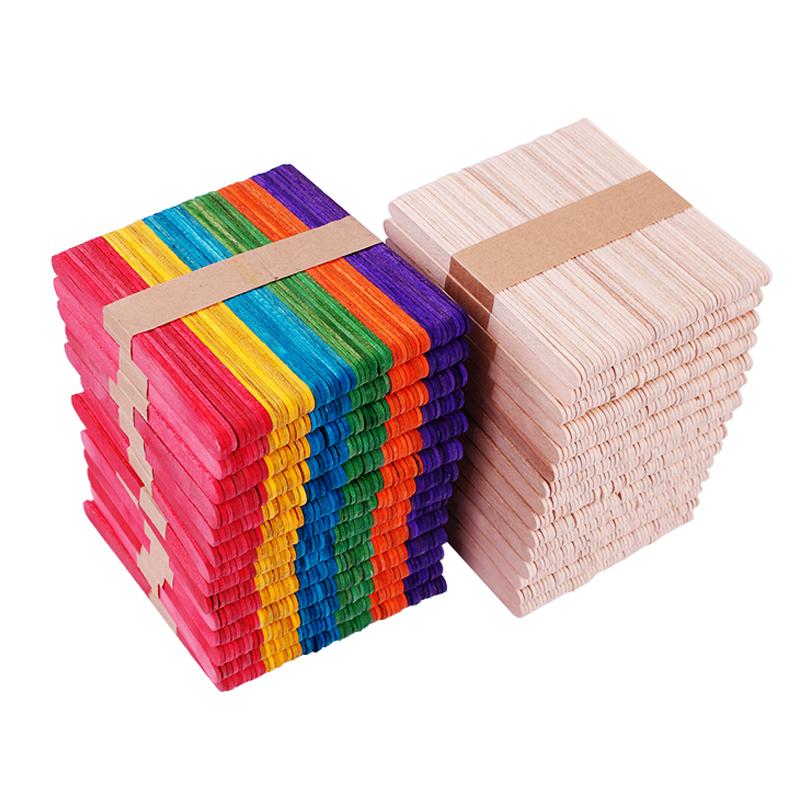 冰棍棒彩色雪糕棒建筑立体构成模型木棒木条木片 diy材料手工儿童