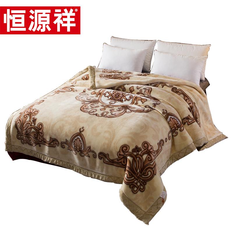 恒源祥拉舍尔毛毯被子加厚冬季保暖单人宿舍学生法兰绒珊瑚绒毯子