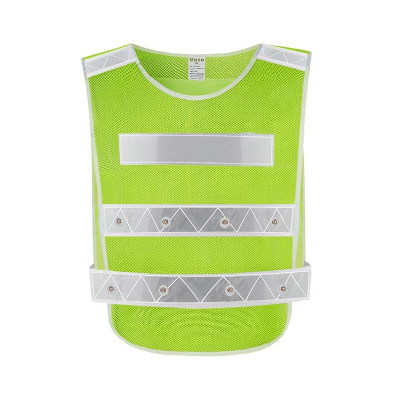 MNSD 反光背心马甲 道路施工 LED 带灯警示安全服 可印字 反光服