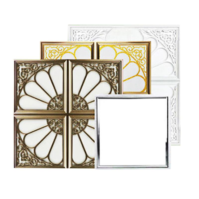 平板燈 led 客廳天花藝術吸頂嵌入式鋁扣板 450 × 450 集成吊頂燈 45x45