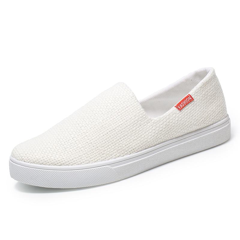 老北京布鞋男鞋夏季透气帆布鞋男士休闲鞋子男板鞋一脚蹬懒人鞋男高清大图