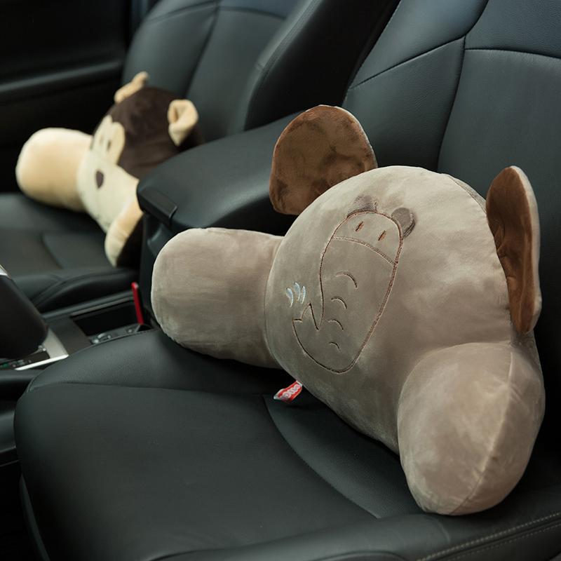 護腰靠枕辦公室靠墊汽車腰靠車用卡通可愛腰枕椅子腰墊靠背加大號