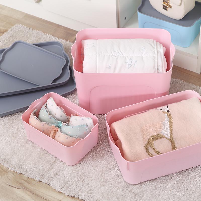 特大号塑料有盖收纳箱零食衣服衣物收纳盒家用加厚整理箱子储物箱