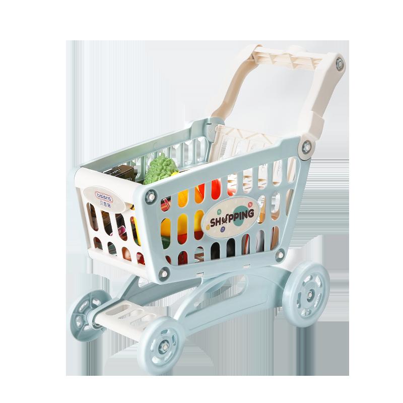 贝恩施儿童购物车玩具女孩 超市小手推车过家家宝宝2-4-6岁厨房 (¥38)