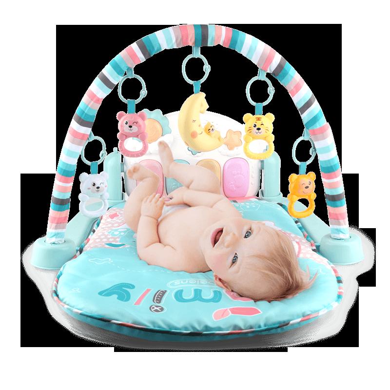 贝恩施婴儿脚踏钢琴健身架器幼儿宝宝婴儿玩具毯0-1岁男女孩3个月
