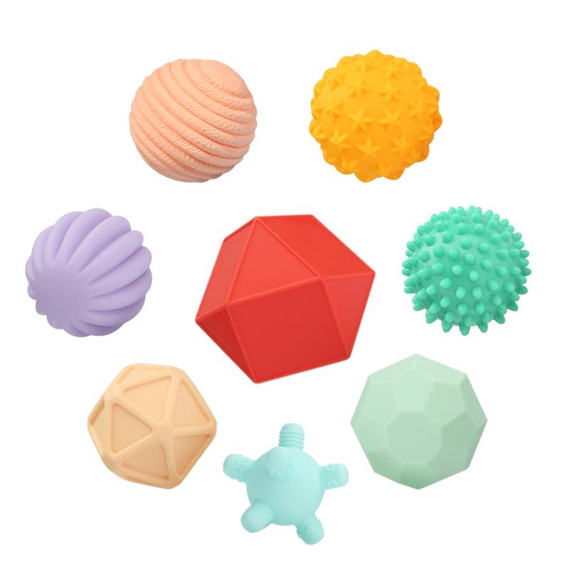 【贝恩施】婴儿手抓球玩具触感球咬胶