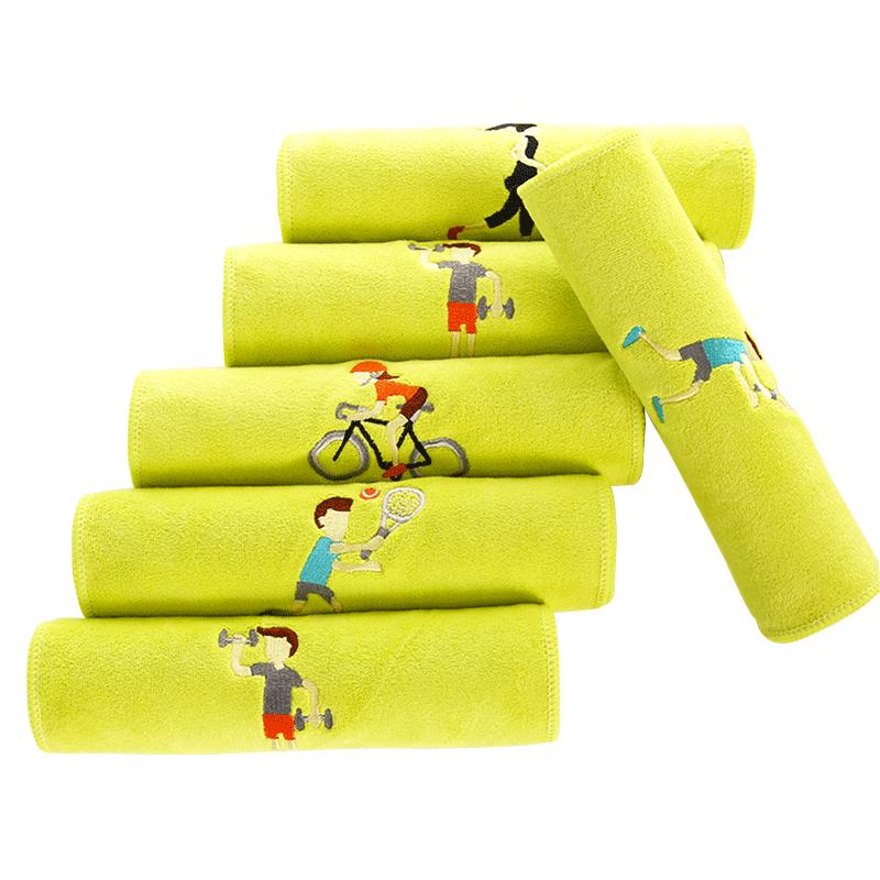 运动毛巾加长女瑜伽健身房擦汗巾跑步男速干羽毛球吸汗吸水大毛巾