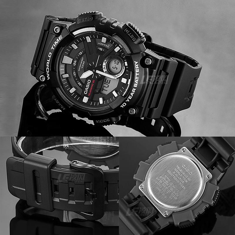 1B 110W AEQ 卡西欧手表男防水休闲学生运动手表电子表卡西欧男表
