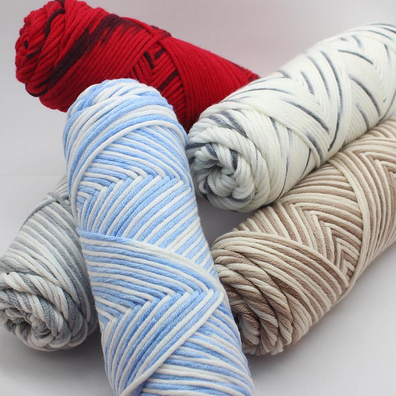 情人棉织围巾毛线团柔软粗线球手工diy编织送男友女牛奶棉材料包