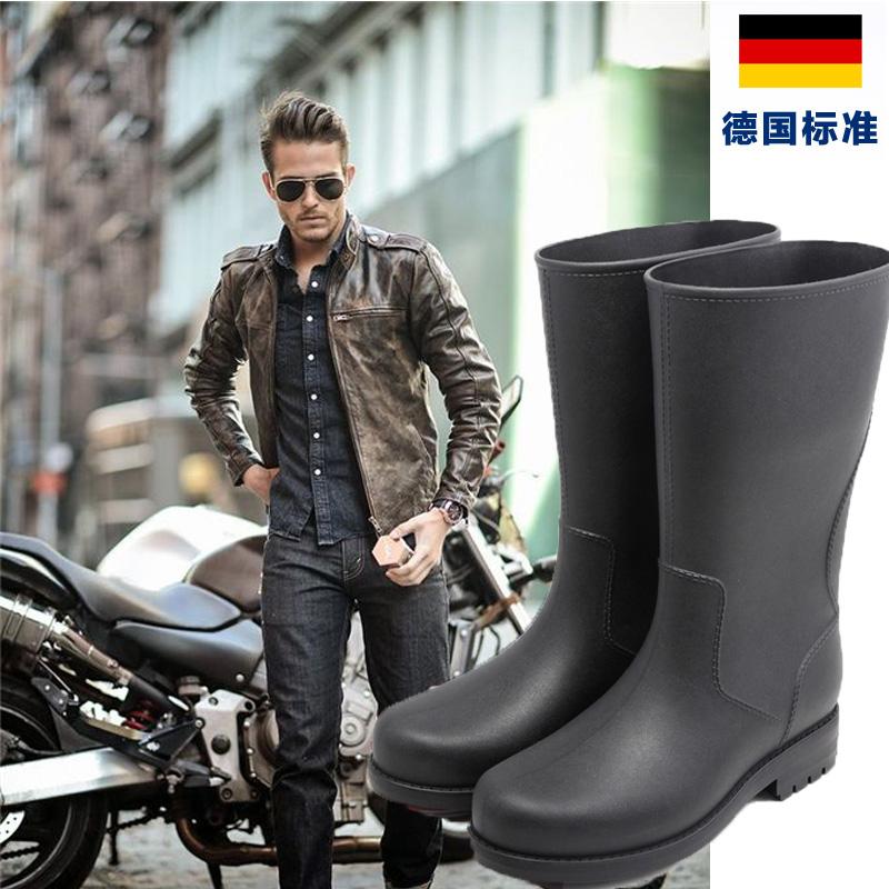雨靴男士时尚水靴中筒钓鱼防水套鞋高筒胶鞋防滑水鞋劳保雨鞋男