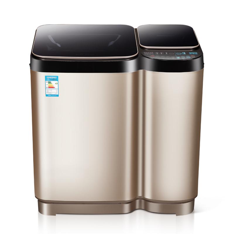 公斤免清洗子母大容量洗衣机婴儿童加热洗 11 长虹洁立方全自动双桶