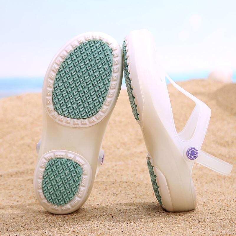 JDOV护士女式洞洞鞋夏季软底孕妇拖鞋凉鞋果冻鞋沙滩鞋防滑厚底