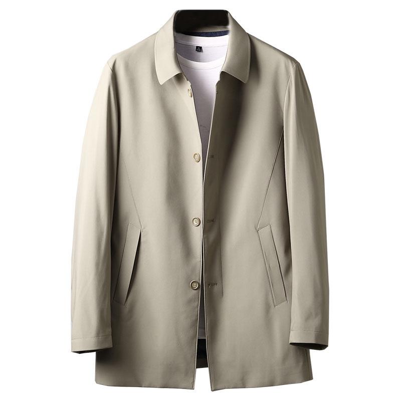 领导干部风衣外套 机关单位穿商务休闲公务装 深八度春季新品风衣