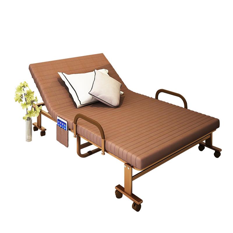 折叠床单人 办公室午休床午睡床省空间的床加固小户型简易床家用