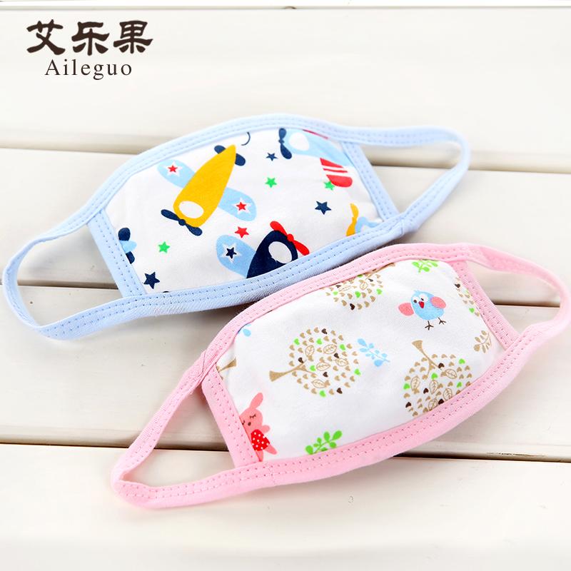 艾乐果 儿童口罩纯棉透气男女童秋冬宝宝口罩幼儿婴儿卡通3/4个装
