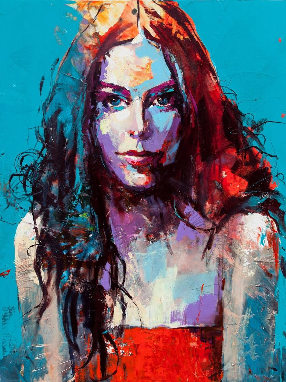 纯手绘波普定制肖像画美式抽象油画头像真人照片创意现代人像挂画