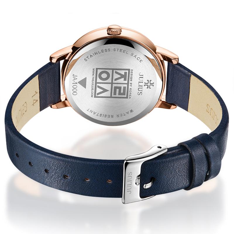 聚利时女士法国小众手表女防水女款时尚名牌正品皮带轻奢日韩腕表