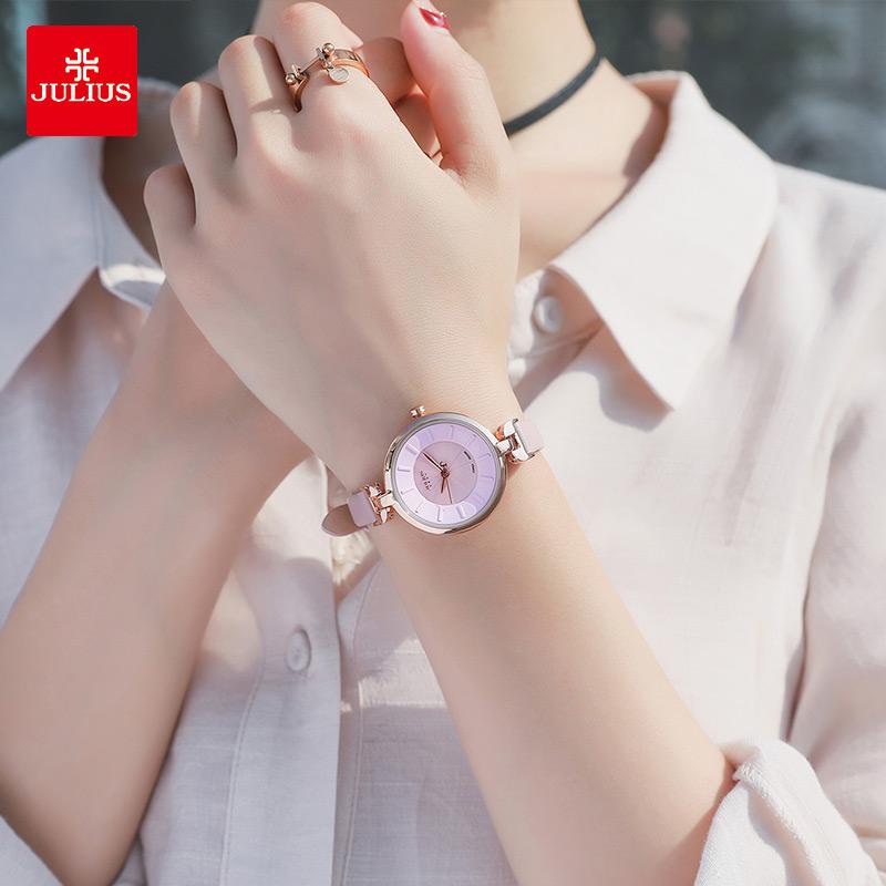 新款正品专柜 2018 聚利时手表女士学生韩版简约时尚潮流防水 julius