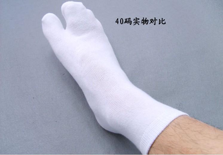 热卖 日本传统和服木屐二指袜子足浴两趾袜人字拖白色两指袜