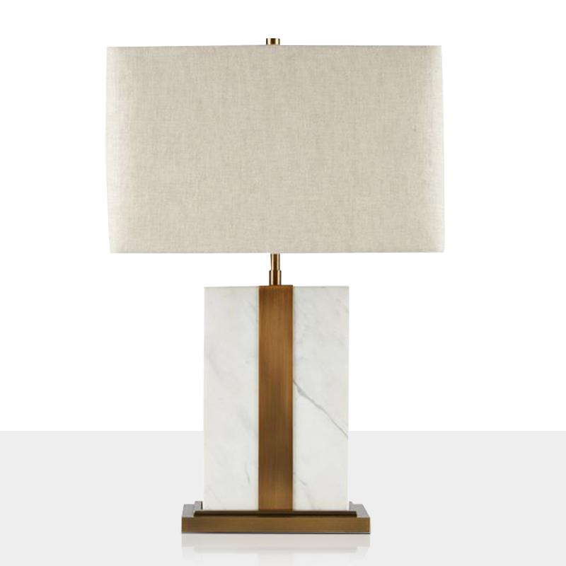 新中式简约大理石台灯个姓创意现代卧室床头灯复古温馨遥控装饰灯
