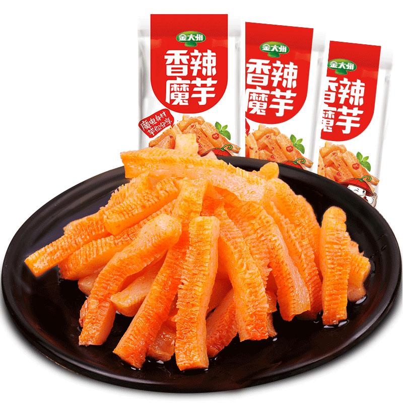 金大州魔芋爽289g*2袋香辣味素毛肚魔芋爽解馋辣条小零食四川特产