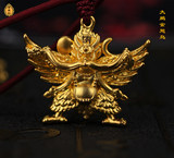 24K ancient gold 999 pure gold pure gold Dapeng gold-winged bird pendant protector of the god of sterling silver pure silver jewelry