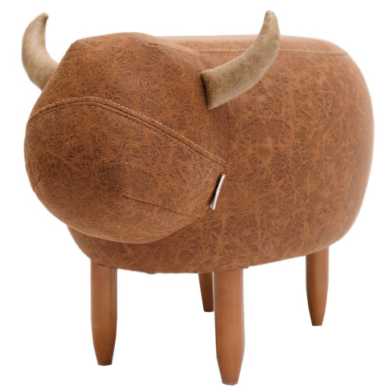 【有所的设计】黄牛坐墩原创小家具宝宝儿童沙发凳动物换穿鞋脚凳