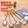 不锈钢仿木柄全套勺铲厨具炒菜锅铲铲子汤勺子大漏勺厨房烹饪工具 mini 1