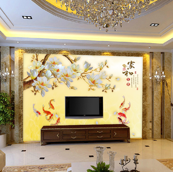墙纸现代简约无纺布影视墙布装饰客厅 3d 壁画电视背景墙壁纸卧室 5d